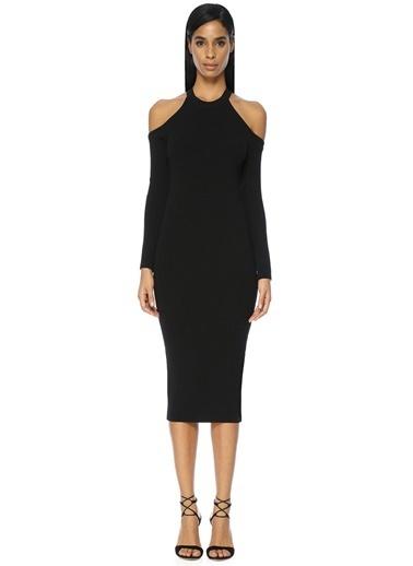Omuzları Açık Triko Elbise-Academia